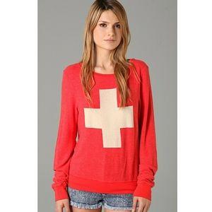 Wildfox Lifeguard Baggy Beach Sweatshirt Size M